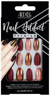 Nehty Ardell Nail Addict Premium - Red Cateye